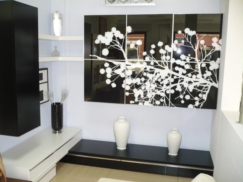 mobile soggiorno laccato bianco e nero silvan arreda